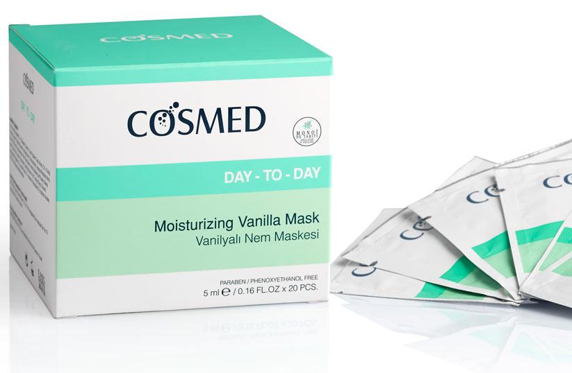 Cosmed day-tod-ay vanilyalı nem maskesi ürünü