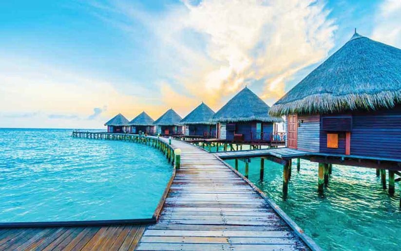 maldivler'de kış ortasında bronzlaşmak