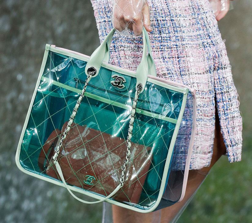 2018 aksesuar modasında şeffaf çantalar ve ayakkabılar