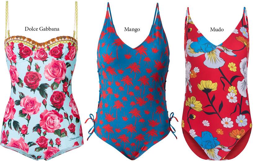 2018 Yaz plaj modasında çiçekli modeller