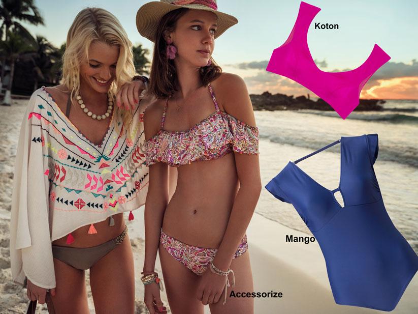 2018 Yaz plaj modasında hafif kollu modeller