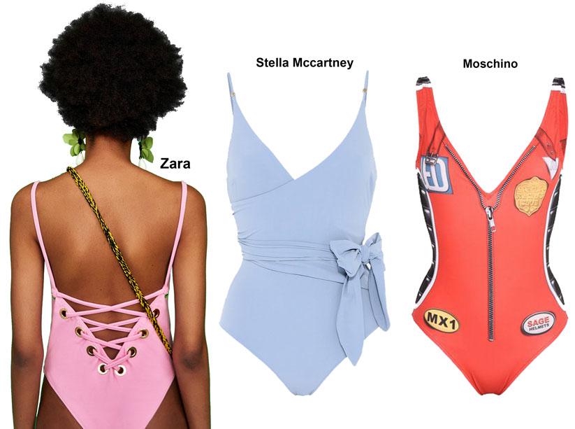 2018 Yaz plaj modasında havalı tek parça mayolar
