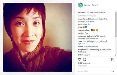 Instagram'da selfie hashtaginin kullanıldığı ilk fotoğraf