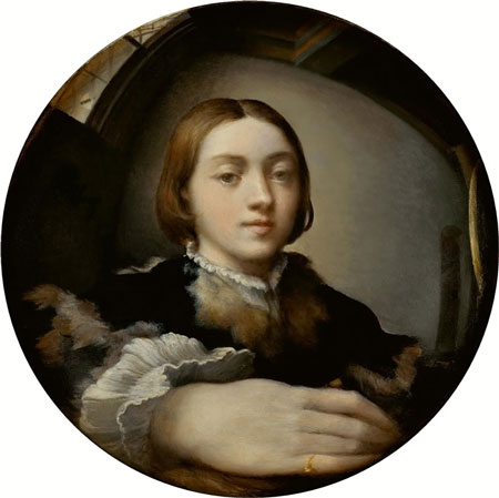 Parmigianino kendi portresini bir aynaya yaptı